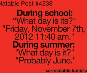 summer, school, and funny image