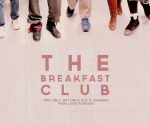 The Breakfast Club, movie, and 80s image