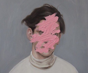 art, pink, and boy image
