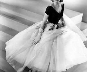 grace kelly, dress, and vintage image