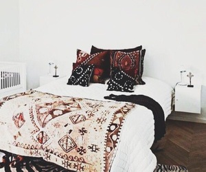 bedroom, bed, and boho image