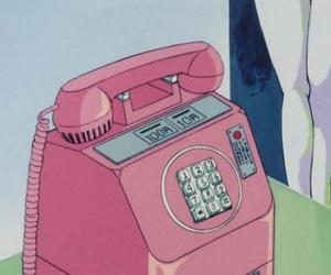kawaii, pink, and telephone image