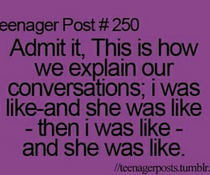 teenager post, conversation, and funny image