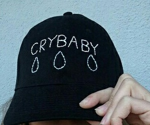 black, crybaby, and girl image