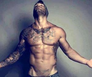 abs, boy, and tattoo image