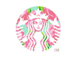 starbucks, floral, and png image