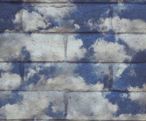 clouds, sky, and wall image
