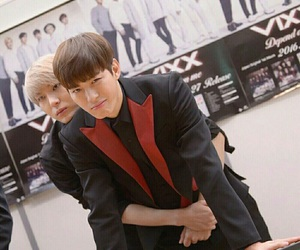 Leo, vixx, and hongbin image