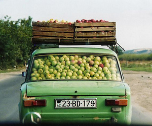 apple, car, and green image
