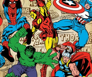 captain america, Hulk, and spiderman image