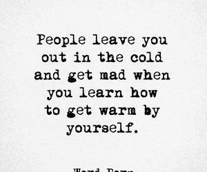 alone, cold, and quote image