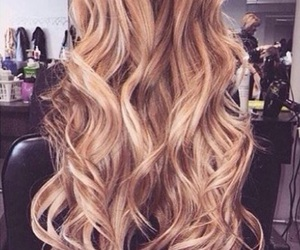 curls, hair, and girly image