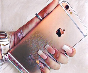 tumblr, rose gold iphone, and mosaic phone image