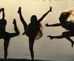 girl, dance, and friends image