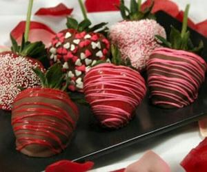 capsuni si ciocolata image