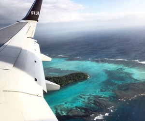 travel, ocean, and plane image