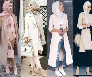 classy hijab outfits image