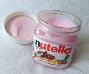 nutella, pink, and food image