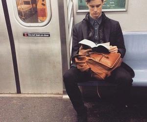 books, boy, and train image