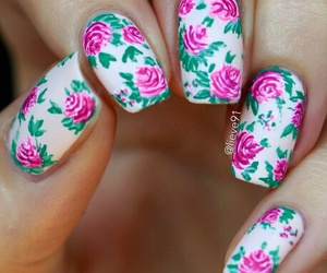 flowers, nails, and nail lash image