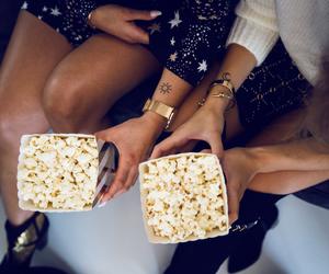 fashion, food, and popcorn image