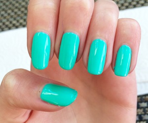 Easy, nail art, and turquoise image