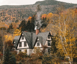 house, autumn, and fall image