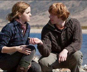 harry potter, romione, and ron image