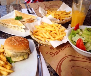 food, fries, and girls image