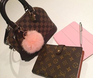 pink and Louis Vuitton image