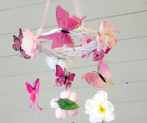 baby, butterfly, and pink and white image