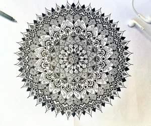 amazing, black and white, and art image