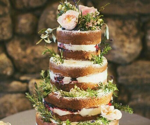 cake, decoration, and floral image