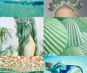 green and mermaid image