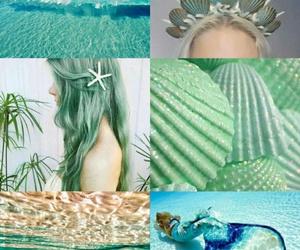 green and mermaid image