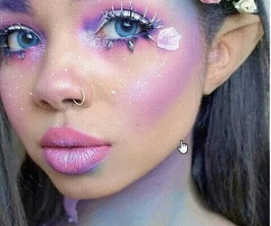 makeup, Halloween, and fairy image