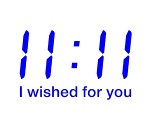 11:11, wish, and blue image