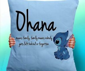 stitch, ohana, and almohada image