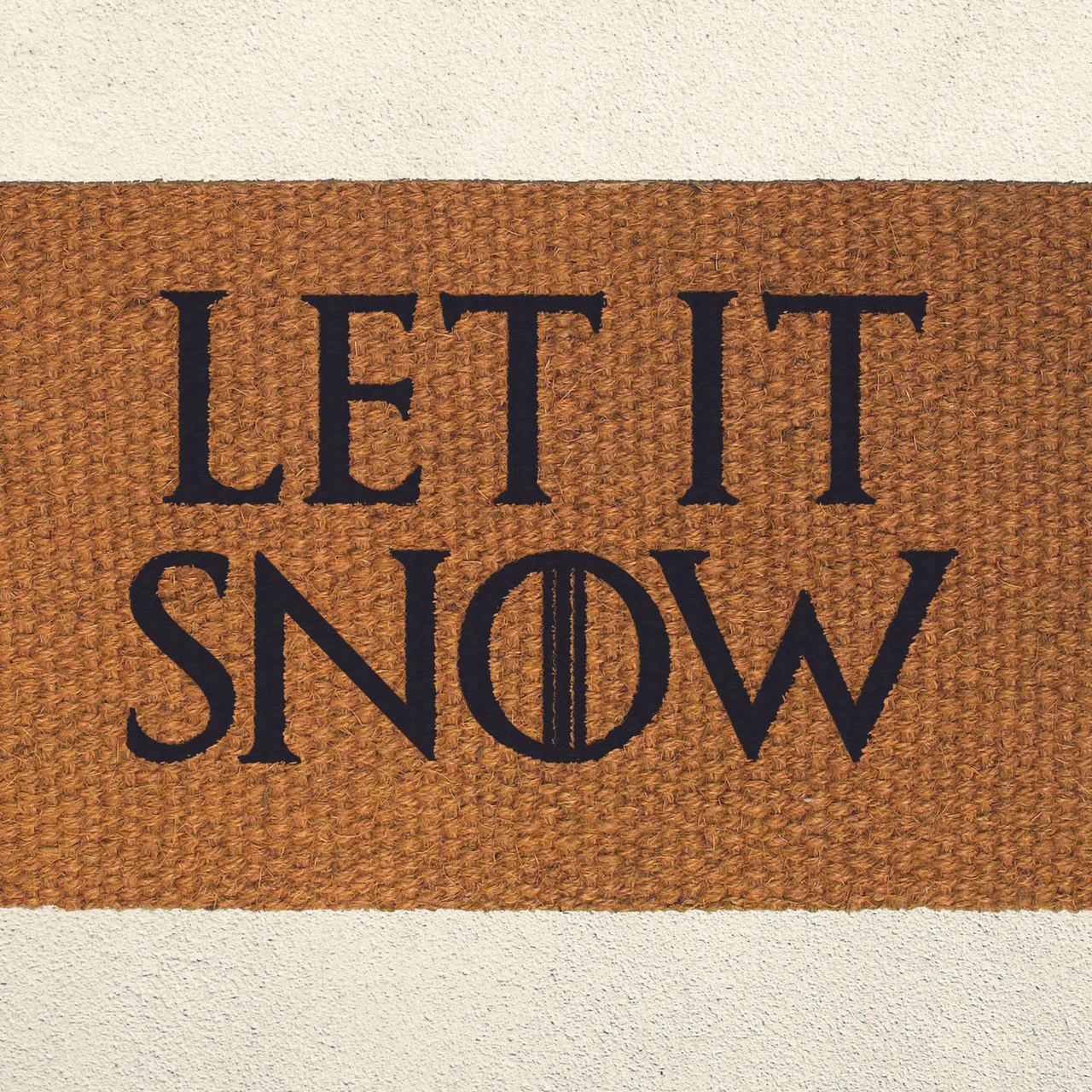 Let Is Snow Television Series Inspired Doormat Welcome
