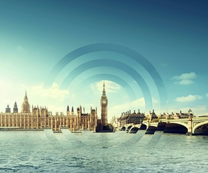 city, london, and themse image