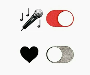 heart, microphone, and off image