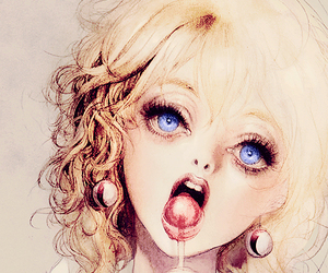 blonde, doll, and eyes image