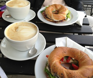 food, coffee, and breakfast image