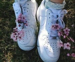 flowers, nike, and grunge image