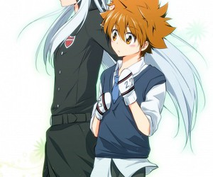 anime, boy, and katekyo hitman reborn! image