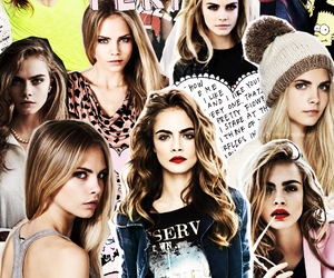 cara delevingne, model, and Collage image