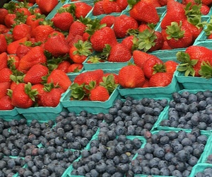 berries, farmers market, and food image