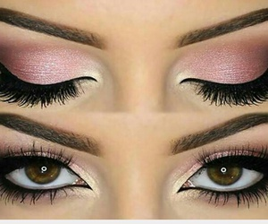 makeup, pink, and spring image