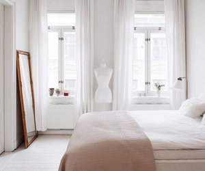 white, interior, and bedroom image