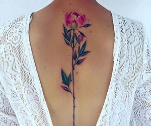 tattoo, flowers, and back image
